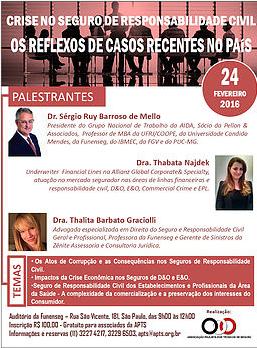 Seminário da APTS discutirá os impactos da crise econômica no seguroD&O